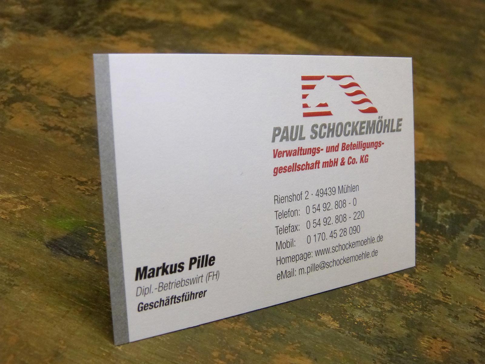 Visitenkarte Druckerei Heimann